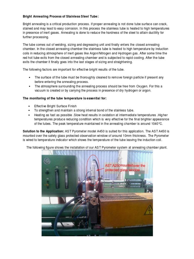 Bright Annealing | Annealing (Metallurgy) | Vacuum Tube