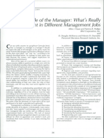 The Role of the Manager
