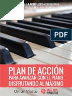 Plan de Acción para avanzar con el piano disfrutando al máximo - Omar Vilata