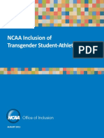 NCAA Inclusion of Transgender Athletes