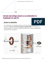 Current and Voltage Sensors as an Alternative to CTs and VTs