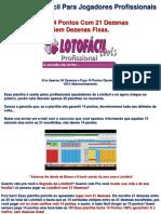 Planilha Lotofacil Profissional 21D