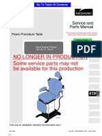 Midark 419 Examination Chair - Service Manual