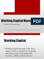 5. Working Capital Management