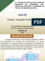 FII Aula 03 Equação de Bernoulli.pptx