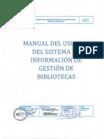 Mv6. Manual de Usuario Del Sistema de Información de Gestión de Biblioteca