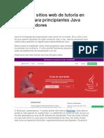 5 Grandes Sitios Web de Tutoría en Español Para Principiantes Java Desarrolladores
