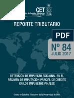 Rt84 Retencion de Impuesto Adicional en El Regimen de Imputacion Parcial de Credito en Los Impuestos Finales