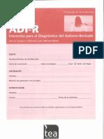 ADI-R. Entrevista Para El Diagnóstico Del Autismo