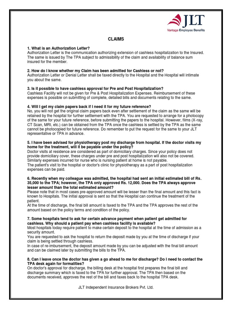 Claims FAQ | Patient | Insurance