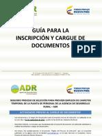 Guía Para La Inscripción y Cargue de Documentos