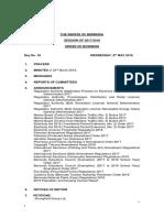 Senate Order of Business 2018 MAY 09