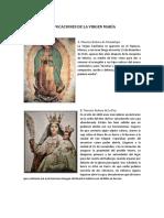 ADVOCACIONES Marianas, Celebraciones y Virtudes