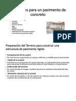 Materiales Para Un Pavimento de Concreto