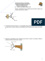 Lista 1 - Vetores Força - Mecânica Aplicada - Para Resolução