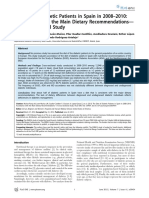 The Diet of Diabetic Patients in Spain in 2008–2010