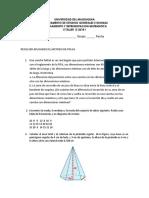 Taller Razonamiento y representación matemática