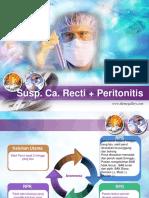 susp ca recti + Peritonitis armaita