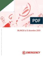 EMERGENCY - Bilancio al 31 dicembre 2009