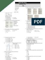 Mathematics Test Biling 3 - Functions