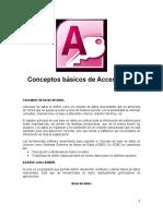 Conceptos basicos  de access 2010