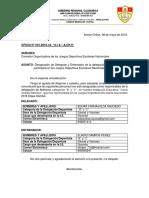 Oficio de Designacion de Entrenador y Delgado