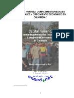 Capital Humano y Crecimiento Economico en Colombia
