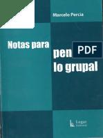 Notas Para Pensar Lo Grupal- Percia