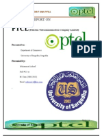 Final Internship Report on Ptcl