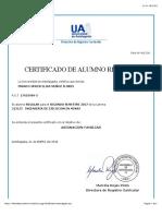Certificado Alumno Regular UA