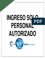 Señaletica Ingreso Sólo Personal Autorizado