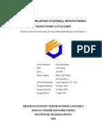 Laporan Praktikum Kinerja Sistem Energi