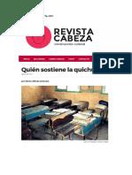 Quién Sostiene La Quichua