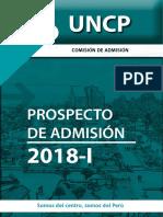 Prospecto General de Admisión 2018-i