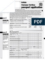 BOT Passport Application Form