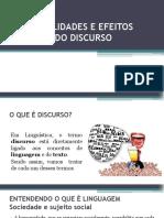 Características e Efeitos Do Discurso