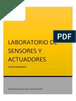 Laboratorio 5 - Filtros Analogicos y Digitales