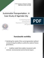Sustaininable Transportation- Case study of Agartala.pptx