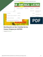 Movilización en San Cristóbal de Las Casas, Chiapas Por #AFRIN – Kurdistan America Latina