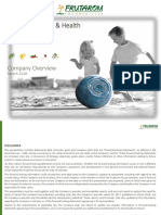 Fruitarom Company Overview  2018