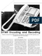 DTMF Encoding and Decoding
