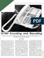 DTMF Encoding and Decoding