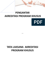 Pengantar Akreditasi Program Khusus