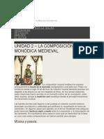 Unidad 2 La Composición Monódica Medieval