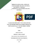 Calidad de Empalme y Vulcanizacion de Faja Transportadora de St 6800 en Proyecto Montaje de Faja Southern Copper Cuajone - Copia