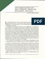 Blanco, Constanza. Titularización en Colombia