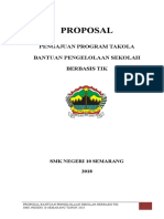 Proposal Bantuan Pengelolan Sekolah Berbasis Tik