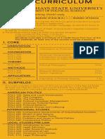 FHSU Political Science Course Card