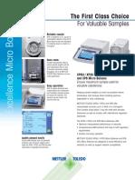 Mettler Toledo Xp Micro Balances Datasheet