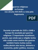 As Guerras Religiosas